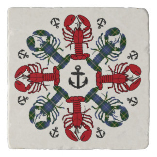 Lobster Snowflake Anchor N.S. Christmas trivet