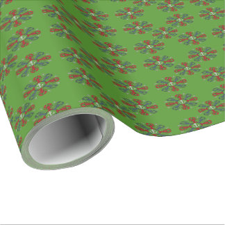 Lobster Snowflake Anchor N.S. Christmas wrap Wrapping Paper