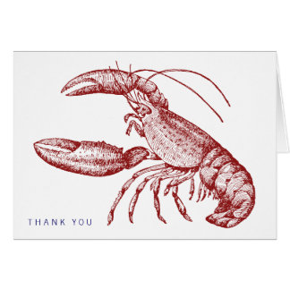 Lobster Thank You Card Greeting Cards