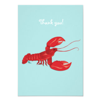 Lobster Thank You Note Card 13 Cm X 18 Cm Invitation Card