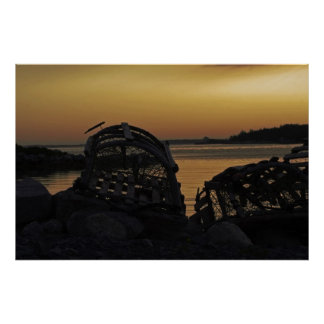 Lobster Trap Sunset Print