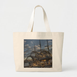 Lobster Traps and Tall Ship Masts Jumbo Tote Bag