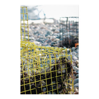 Lobster Traps on Rocky Beach Stationery