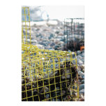 Lobster Traps on Rocky Beach Stationery Design