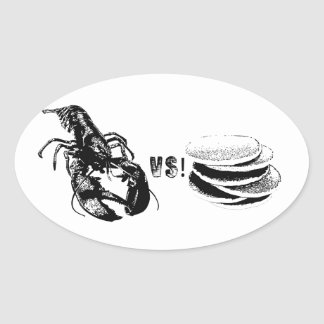 Lobster VS Pancakes Stickers