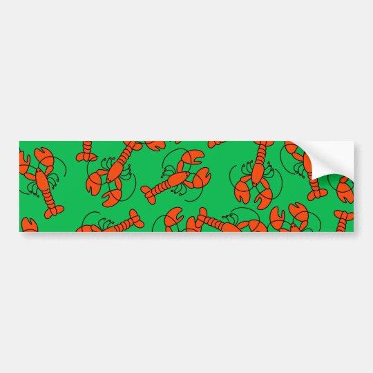 Lobster Wallpaper Bumper Sticker