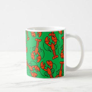Lobster Wallpaper Coffee Mug