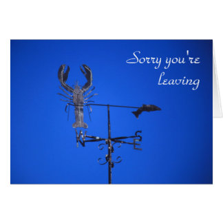 Lobster weathervane card