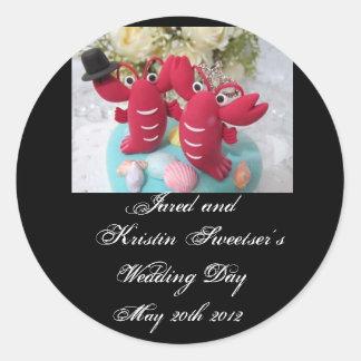 Lobster Wedding Stickers 2