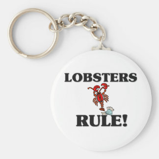 LOBSTERS Rule! Basic Round Button Key Ring