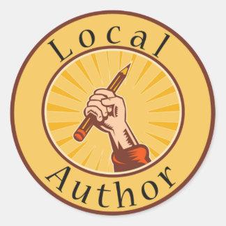 Local Author Round Book Cover Sticker