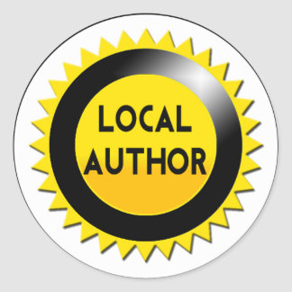 Local Author Starburst Sticker