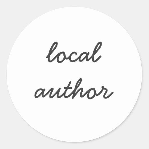 local author stickers