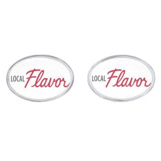 Local Flavor Cuff Links Silver Finish Cufflinks