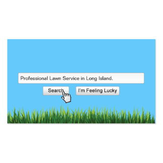 Local Lawn Service Search Engine Business Card