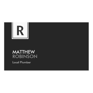 Local Plumber - Modern Classy Monogram Pack Of Standard Business Cards