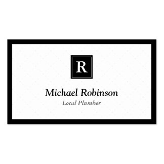 Local Plumber - Simple Elegant Monogram Pack Of Standard Business Cards
