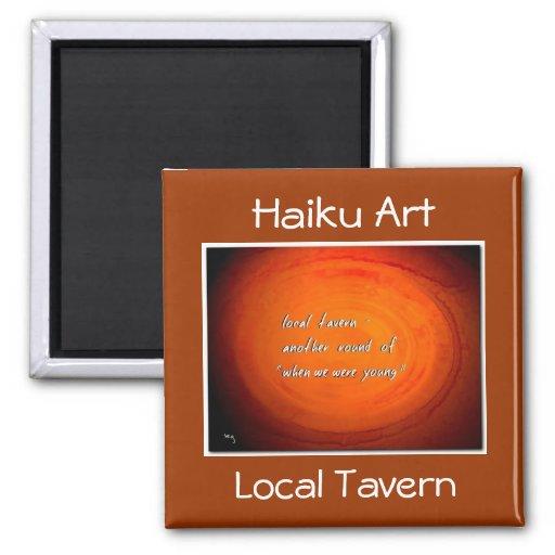 Local Tavern Haiku Art Magnet