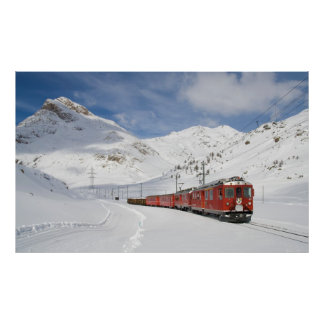 Local train on the Bernina line Poster