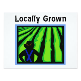 Locally Grown 11 Cm X 14 Cm Invitation Card