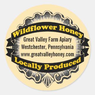 Locally Produced Honey Round Sticker