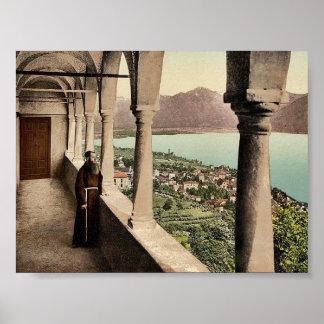 Locarno, Madonna del Sasso, Loggia, Tessin, Switze Poster