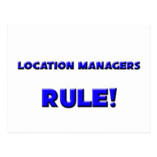 Location Managers Rule Postcard
