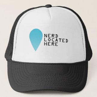Location of a nerd trucker hat