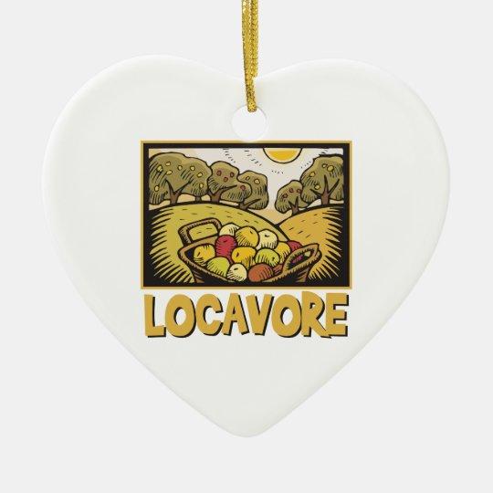 Locavore Slow Food Ceramic Heart Decoration