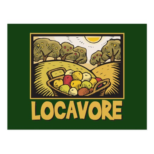 Locavore Slow Food Postcards