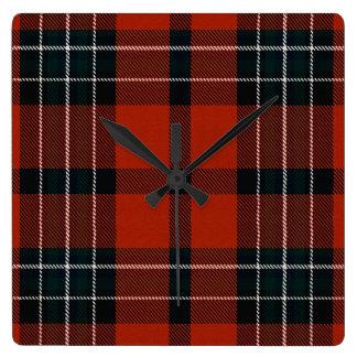 Loch Ailsh Plaid Wall Clock