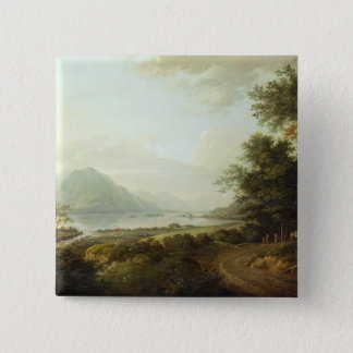 Loch Awe, Argyllshire, c.1780-1800 (oil on canvas) 15 Cm Square Badge