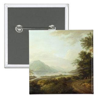 Loch Awe, Argyllshire, c.1780-1800 (oil on canvas) 15 Cm Square Badge