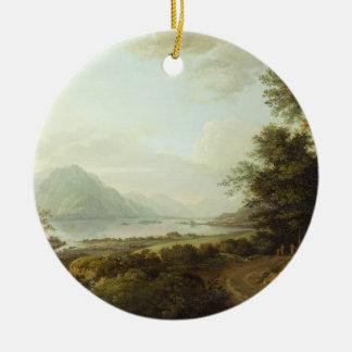 Loch Awe, Argyllshire, c.1780-1800 (oil on canvas) Christmas Ornament