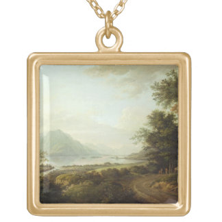 Loch Awe, Argyllshire, c.1780-1800 (oil on canvas) Gold Plated Necklace