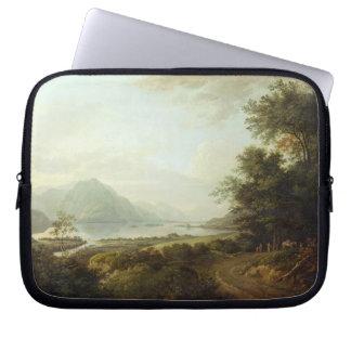 Loch Awe, Argyllshire, c.1780-1800 (oil on canvas) Laptop Sleeve