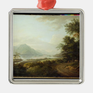 Loch Awe, Argyllshire, c.1780-1800 (oil on canvas) Silver-Colored Square Decoration