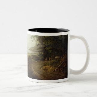 Loch Awe, Argyllshire, c.1780-1800 (oil on canvas) Two-Tone Coffee Mug