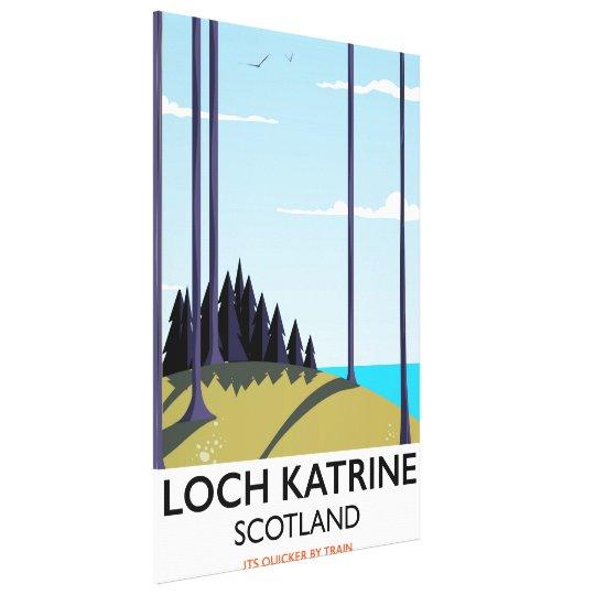 Loch katrine scotland travel poster canvas print