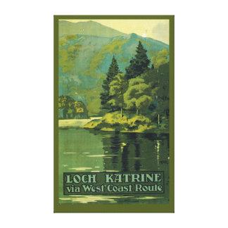 Loch Katrine via West Coast Route railway Canvas Print