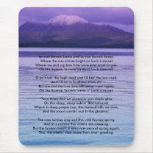 Loch Lomond By yon bonnie banks Mouse Pads