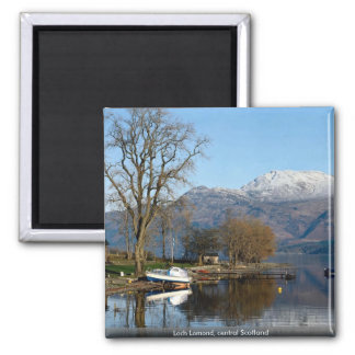 Loch Lomond, central Scotland Square Magnet