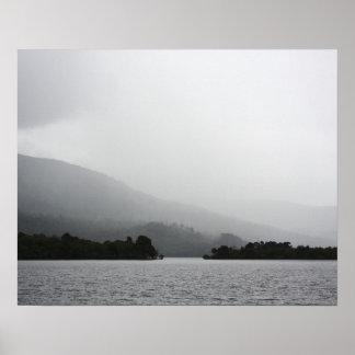 Loch Lomond scene. Poster