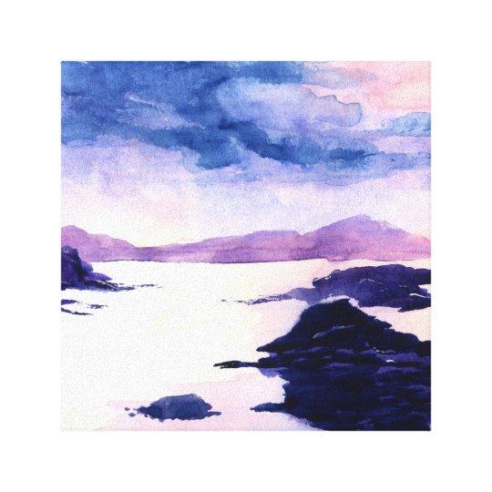 Loch Lomond Scottish Watercolour Canvas