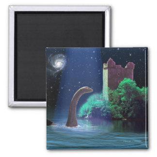 Loch Ness 2 Square Magnet