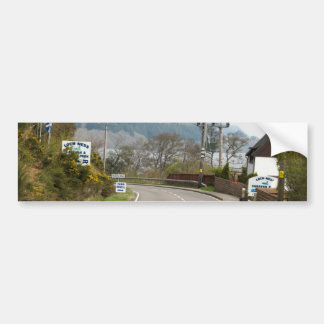 Loch Ness and highway next to it Bumper Stickers