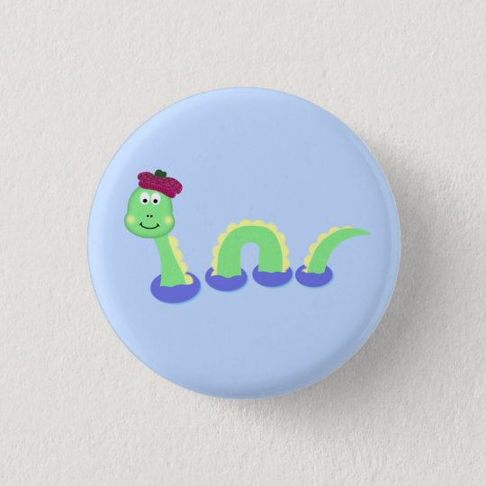 Loch Ness Monster 3 Cm Round Badge