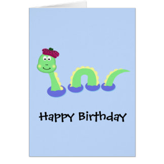 Loch Ness Monster Card