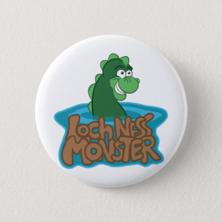 Loch Ness Monster Cartoon 6 Cm Round Badge