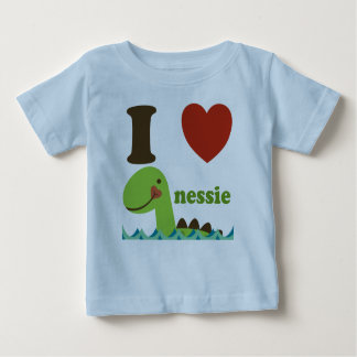 Loch Ness Monster I Heart Nessie Baby Tee Shirt